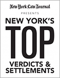 NEW YORK'S TOP VERDICTS AND SETTLEMENTS & PERSONAL INJURY LITIGATORS 2015